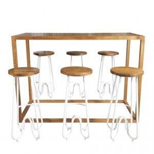 Amalfi Bar Table – Teak 02