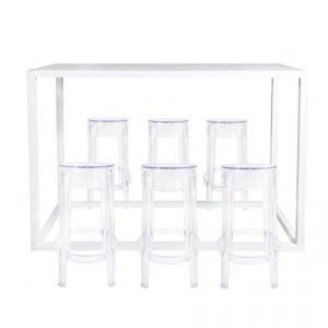 Amalfi Bar Table – White 02